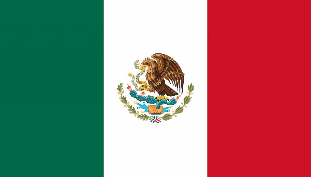 Mexico Flag Coloring Country Flags