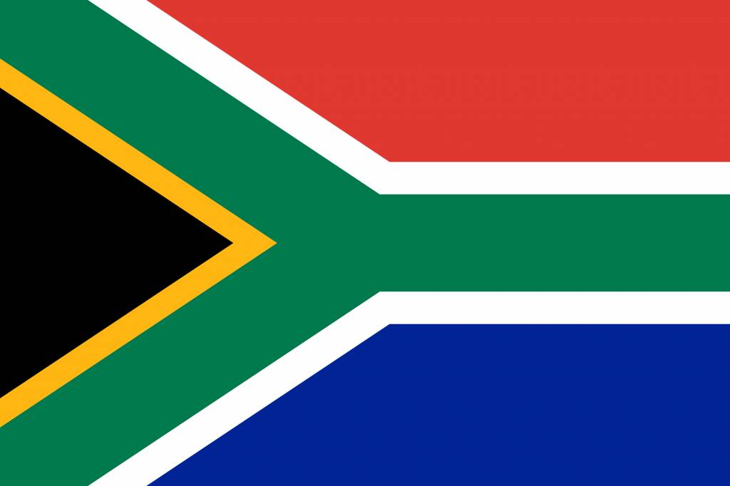 South Africa flag coloring - country flags