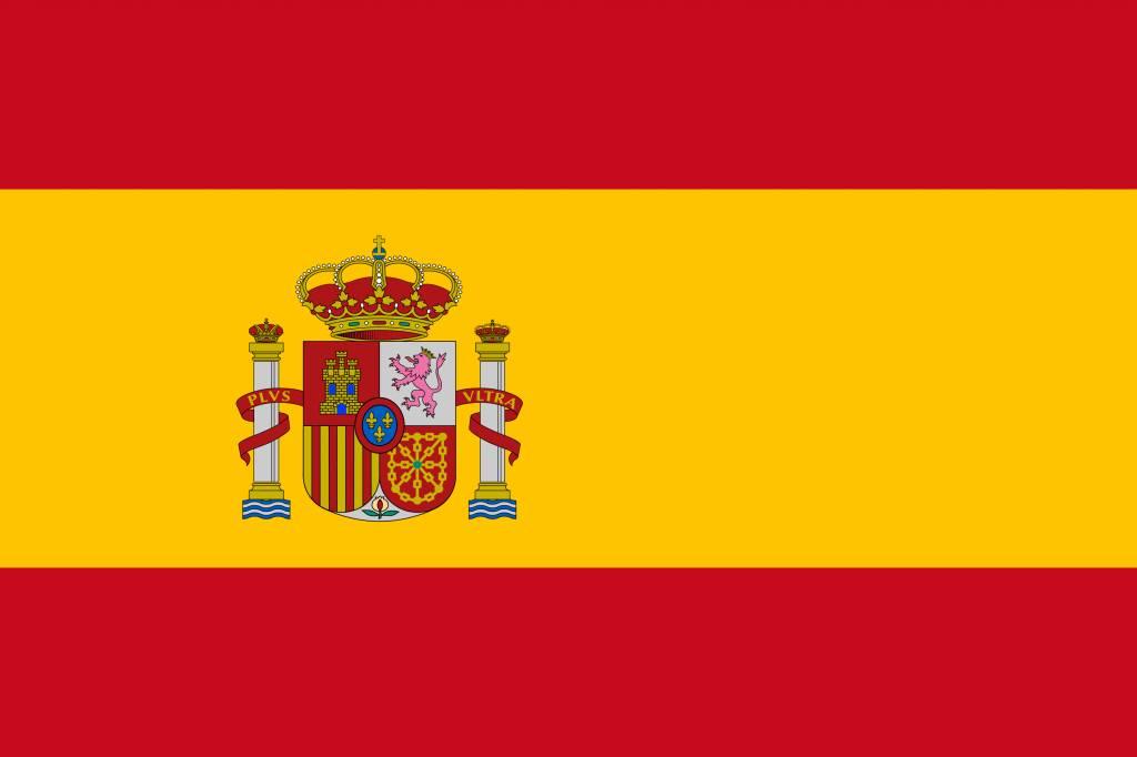 Kleurplaten Landen Europa.Spanje Vlag Kleurplaat Country Flags