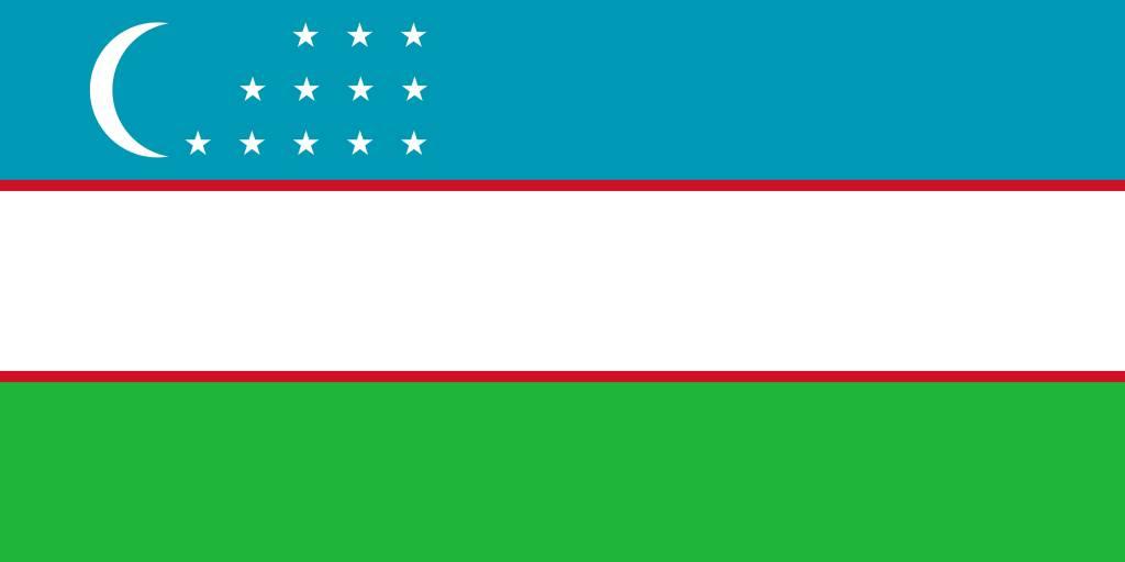 Uzbekistan flag clipart - country flags