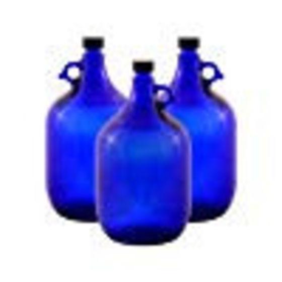 Blau-violette Gallonenflasche