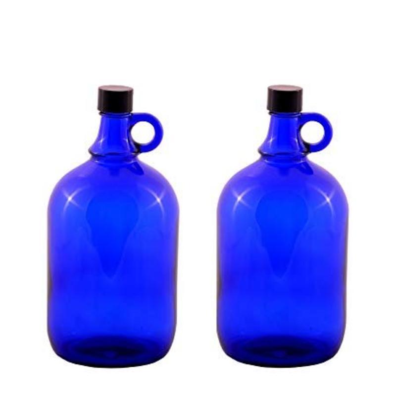 aquaRevitaliser Gallonflasche aus blau-violettes Glas mit Schraubdeckel