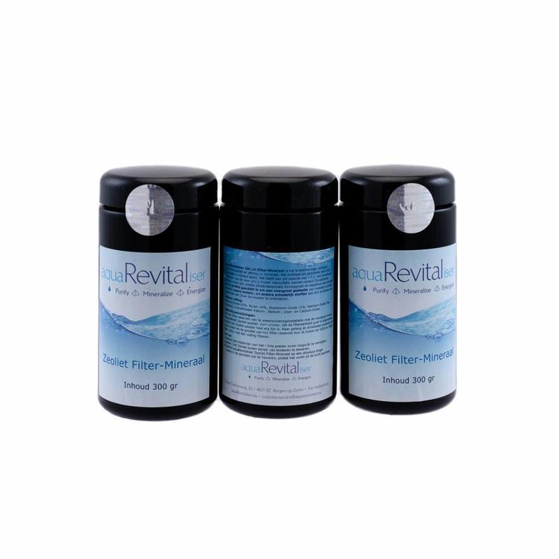 aquaRevitaliser aquaRevitaliser Zeoliet Filter-Mineraal 4x 300 gram