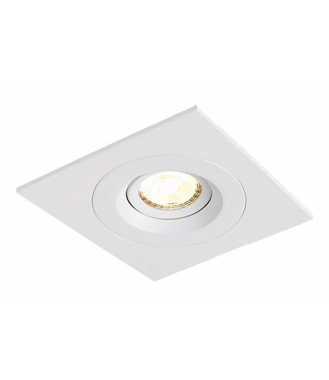 LED inbouwspot Amsterdam 8W, dimbaar en 360 graden richtbaar (vierkant)