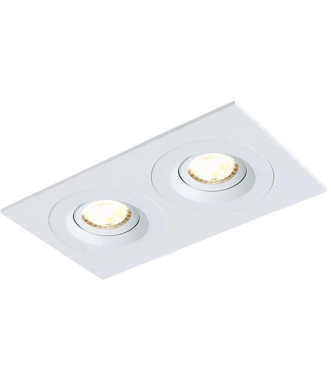 Tweevoudige LED inbouwspot Amsterdam 2 x 8W, dimbaar en 360 graden richtbaar