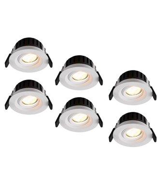 Set van 6 stuks LED inbouwspot Amsterdam 8W, dimbaar