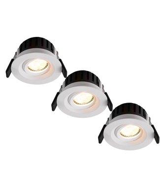 Set van 3 stuks LED inbouwspot Amsterdam 8W, dimbaar