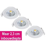 Set van 3 Inbouw Ledspot Star Wit, 5 Watt, Dimbaar Warm Wit IP54