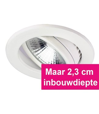 Inbouw Ledspot Oslo-Star Wit, 5 Watt, Dimbaar Warm Wit IP44
