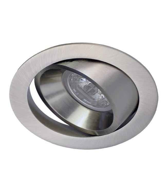 LED inbouwspot 5W dimbaar, kantelbaar.