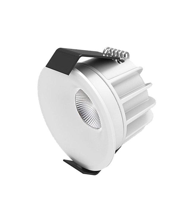 Interlight Micro Led 4 Watt, warmwit licht, dimbaar. Witte uitvoering