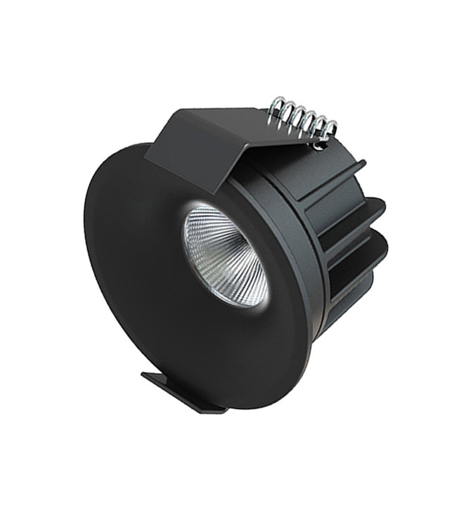 Interlight Micro Led 4 Watt, warmwit licht, dimbaar. Zwarte uitvoering