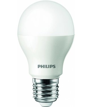 Philips LED lamp, 6 Watt dimbaar, Warm wit, grote fitting E27