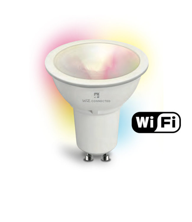 Wiz Smart Led GU10 Wifi. RGB en dimtone, 5,5 W