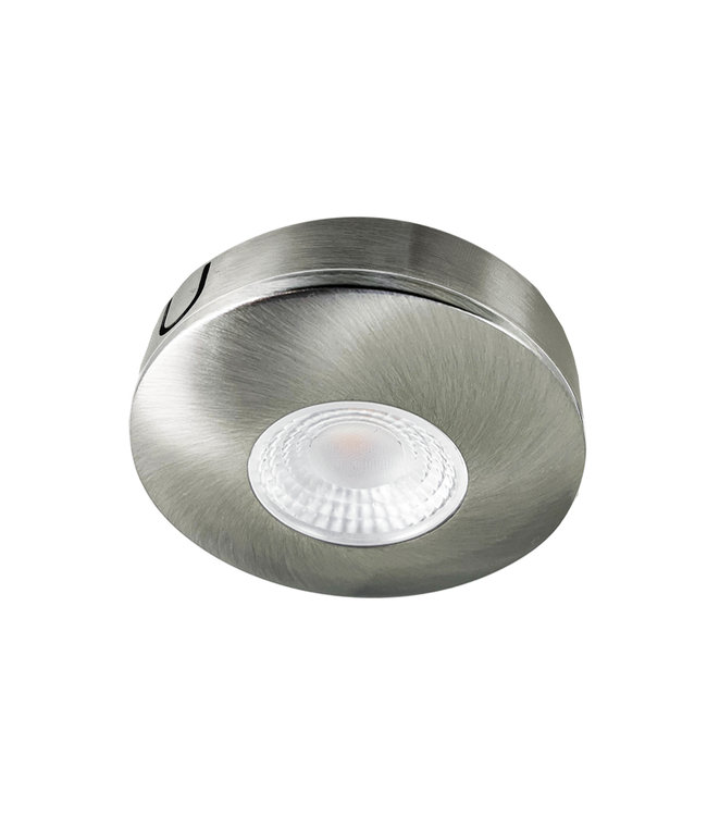 Cabinet Led opbouwspot warm wit, rvs uitvoering IP44,