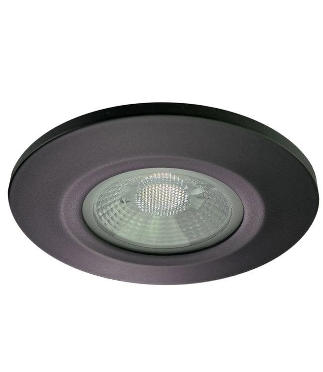 Badkamer LEDspot Venetië 6 Watt, IP65 Dimbaar, zwarte uitvoering, Warm wit licht