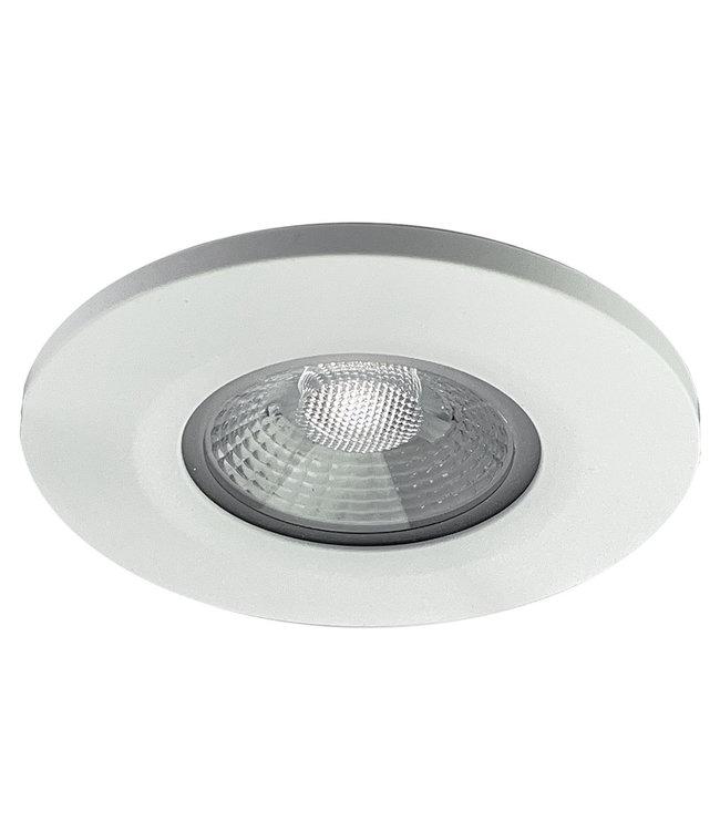 Badkamer LEDspot Venetië 6 Watt, IP65 Dimbaar, Witte uitvoering, Warm wit licht
