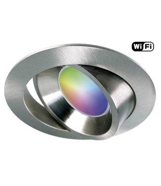 4Lite RVS Wifi, RGB en dimtone LEDspot, 5,5 W. Dimbaar via app