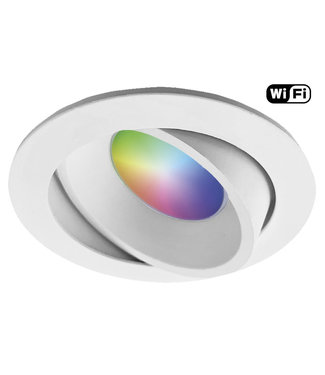 Wiz Witte Wifi, RGB en dimtone LEDspot, 5,5 W. Dimbaar via app