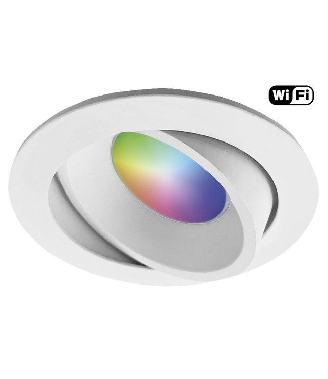 4Lite Witte Wifi, RGB en dimtone LEDspot, 5,5 W. Dimbaar via app