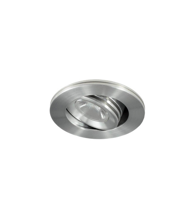 Dimbare mini inbouwLEDspot, warm wit, 1x3W Kantelbaar IP44