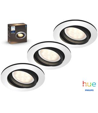 Philips Hue Set van 3 Philips Hue, Dimbare, Milliskin Ambiance Inbouw-ledspots