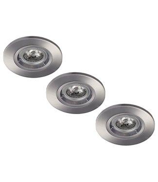 Set van 3 stuks LED inbouwspot 5W dimbaar armatuur + spot