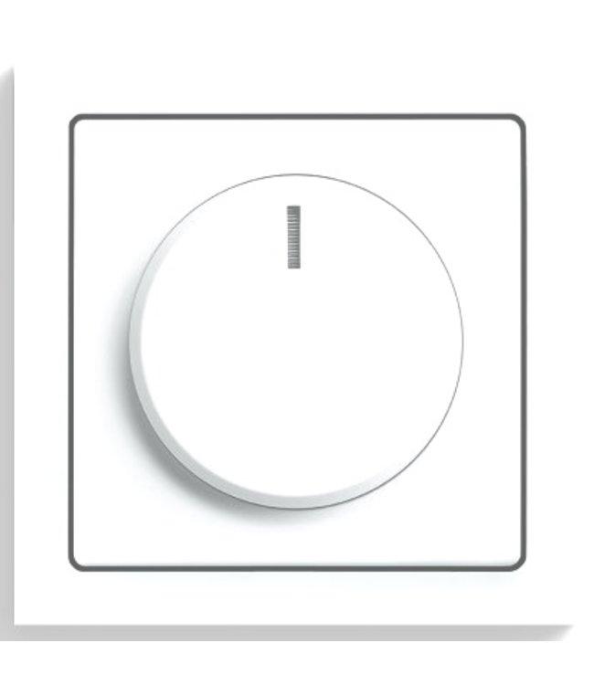 Busch - Jaeger Afdekplaat, knop Future Lineair Wit [5129373]