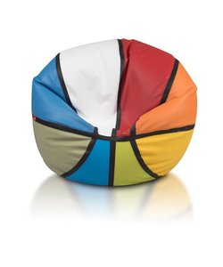 Basketbal MIX Colour zitzak leatherlook Ø 100cm