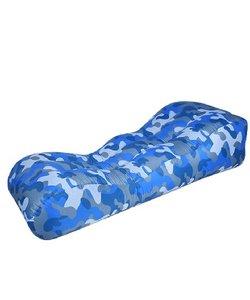 Airlounger lucht zitzak Tank lounger Camouflage blauw
