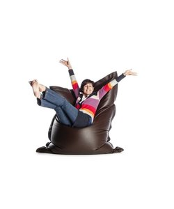 Sit on It zitzak leatherlook donkerbruin