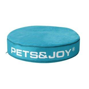 Kattenkussen Pets&Joy kussen Ø60cm aqua