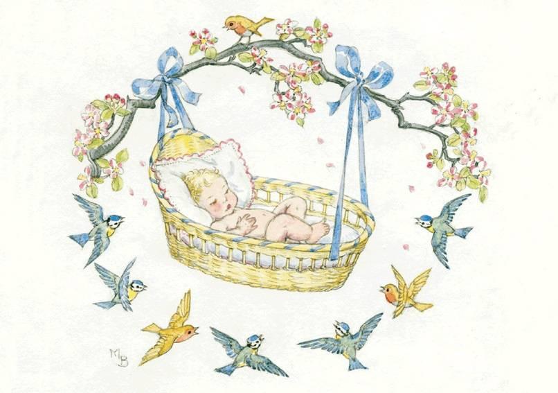 Molly Brett, A Baby in a Basket PCE 117