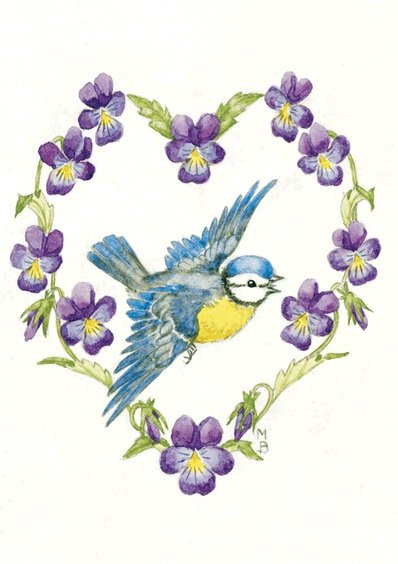 Molly Brett, Blue Tit and Violas PCE 131