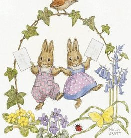 Molly Brett, Two Rabbits with Letters PCE133