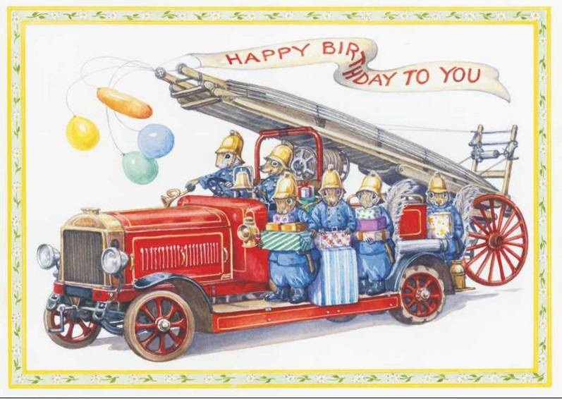 Audrey Tarrant, Fire engine with Squirrel firemen with presents PCE 166