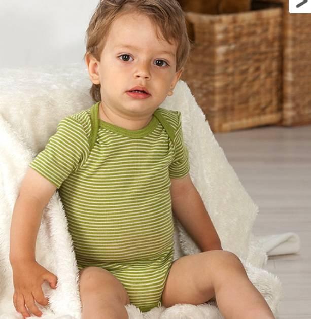 Cosilana Babyromper korte mouw Wol/zijde Cosilana 71052