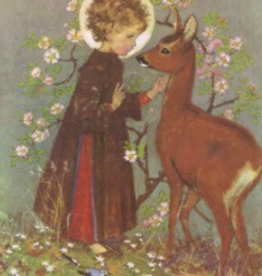 Poster Muriel Dawson, Christ Child and Roe Deer MAS 619