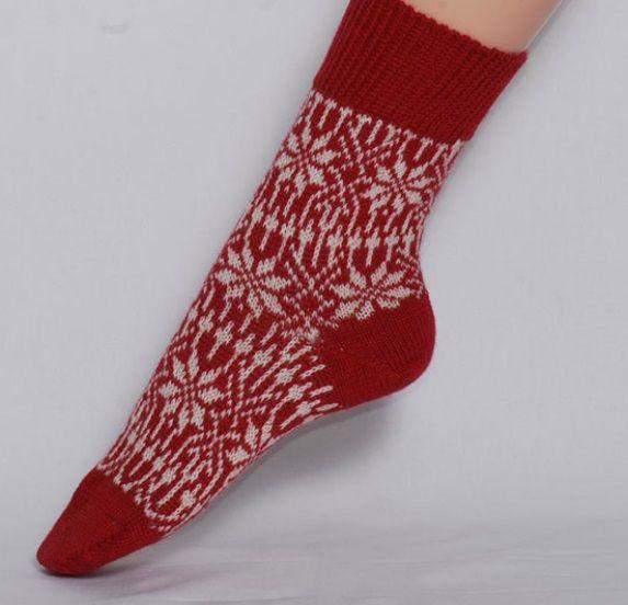 Hirsch Natur Hirsch wollen sokken Stermotief rood Hi 030-36