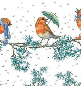 Molly Brett, Three Robins at a Branch at Christmas PCE 080