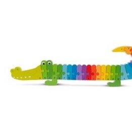Alfabet puzzel Krokodil NCT 10532