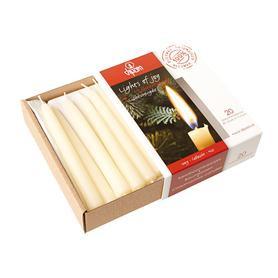Dipam Dipam 20 Kerstboomkaarsjes Wit bijenwas (H20w)