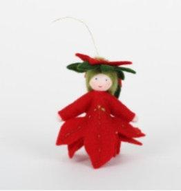 Roemeense Vingerpopjes Kerstster Poinsettia Hangmodel