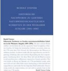 Rudolf Steiner, GA 001-F Editorische Nachworte zu Goethes naturwissenschaftl. Schriften in der Weimarer Ausgabe (1891-1896)