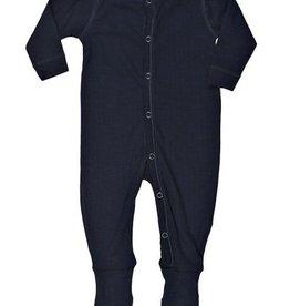 JOHA Joha Pyjama Wol met voet omslag - Marine (13)
