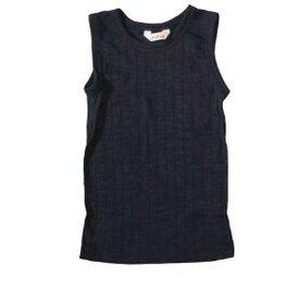 JOHA Joha Onderhemd Wol/Zijde - Donkerblauw