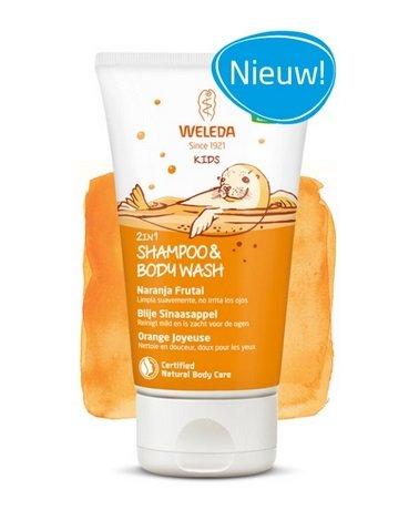 Weleda Kids 2in1 Shampoo & Body Wash Blije Sinaasappel