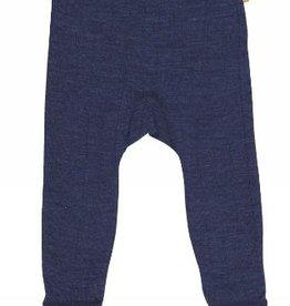 JOHA Joha Baby legging Wol/Zijde met voeten  - Marine (413)