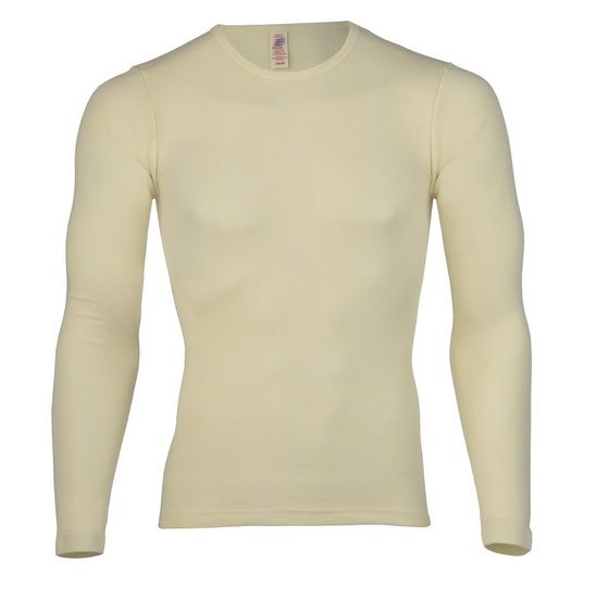 Engel Natur Shirt lange mouw Unisex 100% Bio-wol Engel 40 4810