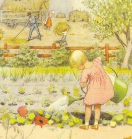 Elsa Beskow, Planten water geven C-EB 6